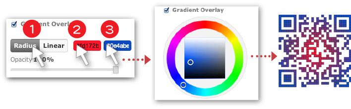 Gradient effects also available